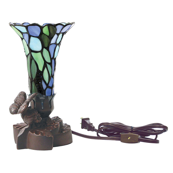 Light Of Remembrance Blue Floral Lamp
