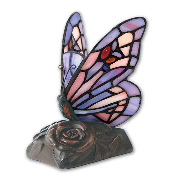 Light Of Remembrance Purple Butterfly Lamp Keepsake